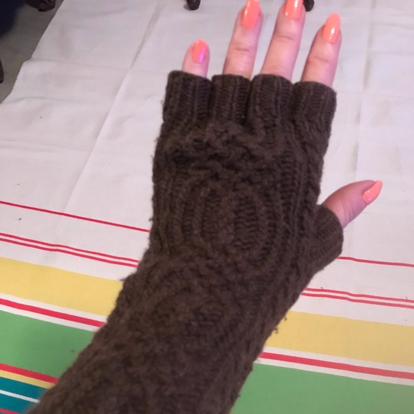 NWT Ralph Lauren Wool Cashmere Blend Red Cable Knit Gloves Mittens